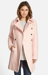 Guess Double Breasted Boucle Cutaway Coat Regular And Petite Pale Pink
