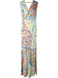 Emilio Pucci Stained Glass Print Dress Multicolour