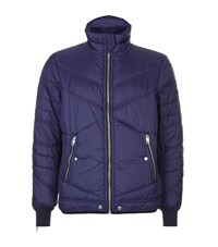 Diesel Quilted Puffer Jacket Male Navy