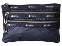 Le Sport Sac Classic 3 Zip Pouch Classic Navy Wallet