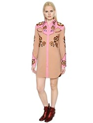 Coach 1941 Western Crepe Dress W Floral Embroidery
