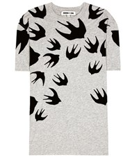 Mcq By Alexander Mcqueen Printed Cotton T Shirt Green