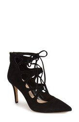 Vince Camuto Women's 'Bodell' Lace Up Pump Black Suede