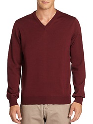 Saks Fifth Avenue Merino Wool Sweatshirt Sangria