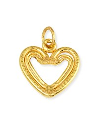 22K Yellow Gold Heart Trio Pendant Jean Mahie