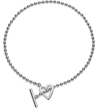 Gucci Heart Motif Sterling Silver Necklace