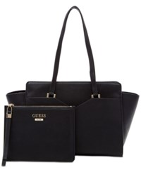 Guess Bryanna Large 2 In 1 Satchel A Macy's Exclusive Style Black