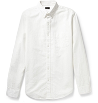 J.Crew Button Down Collar Cotton Oxford Shirt White