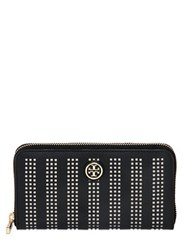 Tory Burch Perforated Leather Zip Around Wallet