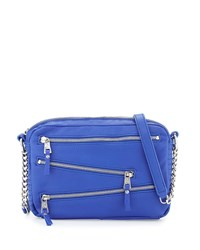 Ash Angel Zip Front Leather Crossbody Bag Sapphire Blue