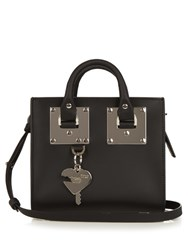 Sophie Hulme Albion Box Leather Cross Body Bag Black Silver