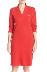 Women's Lauren Ralph Lauren 'Emsworth' Cotton Nightgown Holiday Red