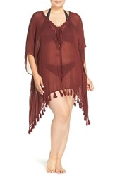 Becca Etc Plus Size Women's Etc. Wanderer Cover Up Tunic