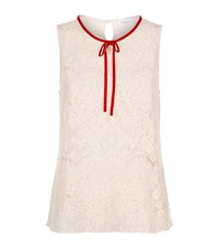 Claudie Pierlot Trich Lace Front Top Female Ivory