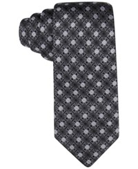 Tasso Elba Men's Core Floral Medallion Classic Tie Only At Macy's Brown