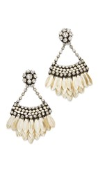 Deepa Gurnani Jaliyah Earrings Silver