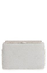 Natasha Couture Crystal Embellished Frame Clutch