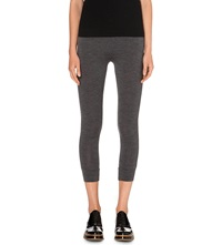 Brunello Cucinelli Cropped Stretch Wool Leggings Dark Grey