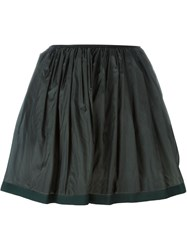 Arthur Arbesser Pleated Mini Skirt Green