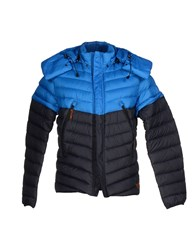 Diadora Heritage Coats And Jackets Down Jackets Men Bright Blue