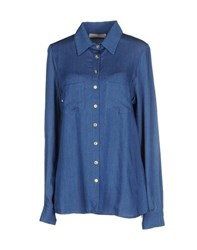 Monica Lendinez Denim Denim Shirts Women Blue