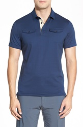 J. Lindeberg 'Aldric' Trim Fit Jersey Polo Navy Purple