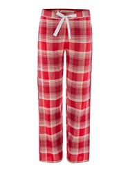 Dickins And Jones Christmas Check Pj Trouser Red