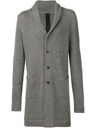 Forme D'expression Shawl Collar Cardi Coat Grey