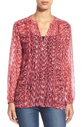 Women's Casual Studio Blouse Red Animal