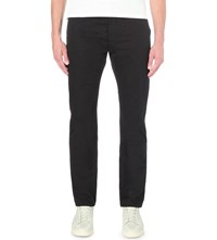Maison Kitsune Jay Slim Fit Skinny Chinos Black