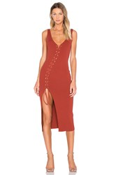 Torn By Ronny Kobo Angelina Dress Rust
