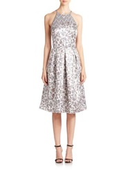 Phoebe Couture Floral Jacquard Midi Dress Multi