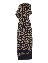Guess Logo Knitted Scarf Black