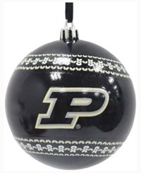 Memory Company Purdue Boilermakers Ugly Sweater Ball Ornament Black