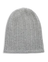 Lord And Taylor Knit Cashmere Slouchy Hat Grey