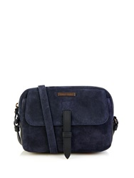 Tomas Maier Bi Colour Suede And Leather Cross Body Bag
