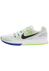 Nike Performance Air Zoom Structure 19 Stabilty Running Shoes White Black Electric Green Concord