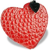 Fontanelli Heart Coin Holder Red