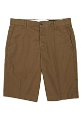 French Connection Lightweight Cotton Cargo Shorts Green