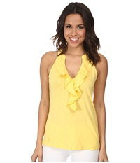Lilly Pulitzer Shay Top Sunglow Yellow Women's Sleeveless