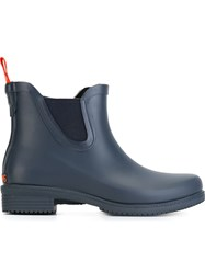 Swims Wellington Ankle Boots Blue