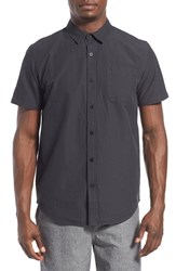 Men's Tavik 'Maison' Short Sleeve Stripe Woven Shirt Jet Black