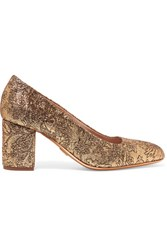 Michael Kors Collection Gigi Metallic Brocade Pumps Gold