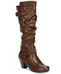 Rialto Crystal Dress Boots Women's Shoes Brown
