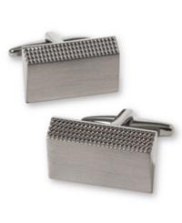 Kenneth Cole Reaction Slanted Rectangle Cufflinks Gun Metal
