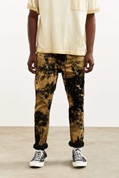 Urban Outfitters Bleached Black Levi's 510 Skinny Jean Black Multi