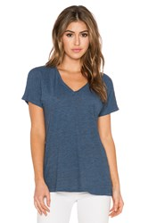 Lanston Tri Blend Oversized V Neck Tee Blue