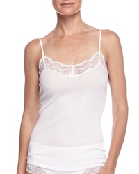 Hanro Valencia Lace Trimmed Ribbed Camisole