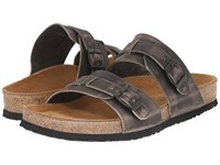 Naot Footwear Santa Cruz Vintage Gray Leather Men's Sandals
