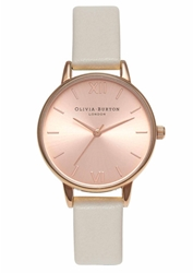 Olivia Burton Midi Dial Watch Mink And Rose Gold